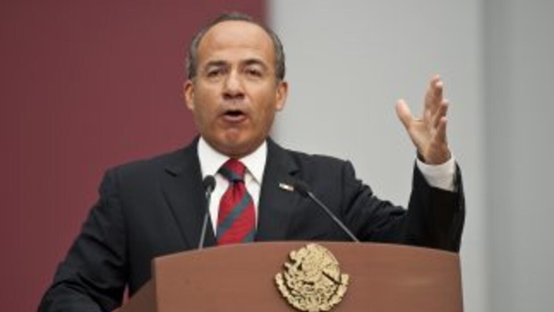 El presidente de México, Felipe Calderón alista un programa de protecció...