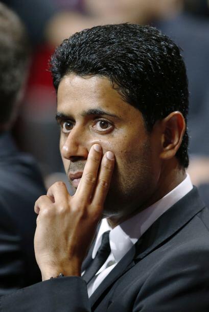 El presidente del PSG pensativo luego de saber que le tocó compar...