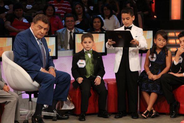 Los pequeños estaban muy nerviosos y emocionados por tener el privilegio...