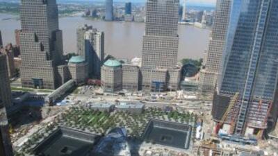 Así veo la Zona Cero desde la ventana de mi hotel (foto de Eduardo Orbea).