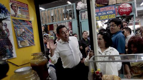 Jimmy Morales durante la campaña electoral
