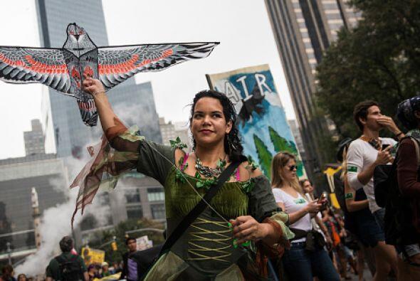 Los manifestantes condenaron la extinción de varias especies.