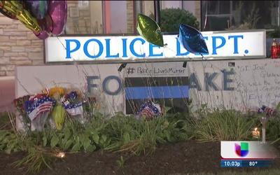 Muestras de solidaridad por muerte de policía en Fox Lake