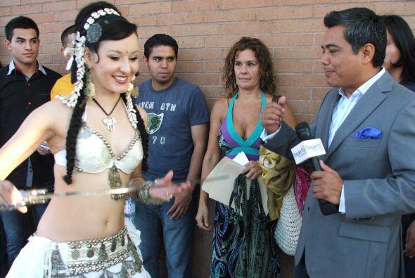 En Houston la audición contó hasta con bailarinas de la danza del vientr...