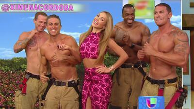 "Ximena puso a los bomberos a bailar el ""weather"""