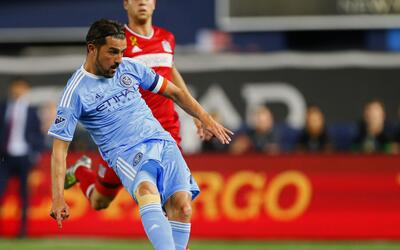 David Villa, satisfecho con la virtual entrada de NYCFC a los Playoffs.