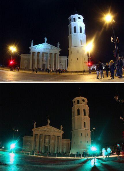 La majestuosa catedral Vilnius en Lituania.