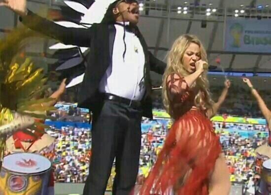 Imágenes de Shakira en el cierre de la Copa Mundial. Mira aqu&iac...