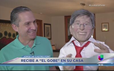 'El Gobe' visita a Jorge de Castro Font