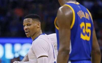 Westbrook y Durant evitan hablar de su relación
