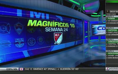 Los Magníficos 10 goles de la Jornada 24 de la MLS