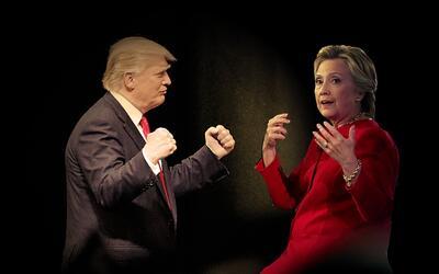 En un minuto: Hillary Clinton y Donald Trump se enfrentan por primera ve...