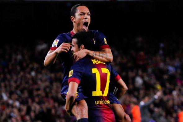 Adriano abrió el marcador luego de una buena jugada con Pedro.