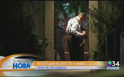 Cadáver de un hombre fue hallado sobre el techo de una vivienda en Los A...