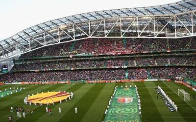 El estadio Aviva de Dublín, capital de República de Irlanda, recibió la...