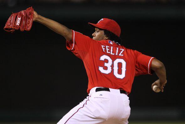 Neftalí Feliz es el cerrador de los Texas Rangers y cuenta con el récord...