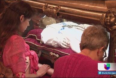 Reliquias de Santa María Goretti visitan Chicago