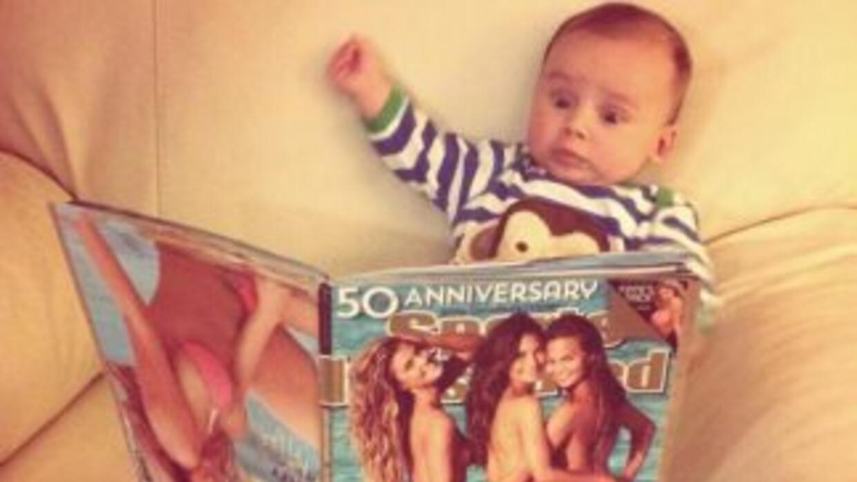 El bebé quedó impresionado.