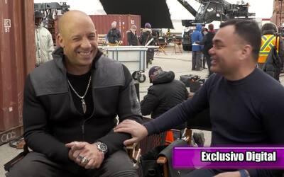 Exclusiva: Vin Diesel nos dio una impresionante demostración de su rap e...