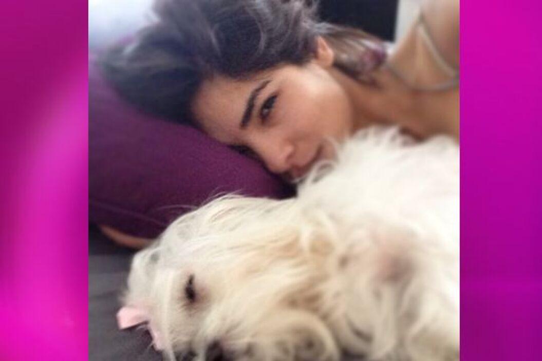 Sophie es experta en apoderarse de la cama de Alejandra.