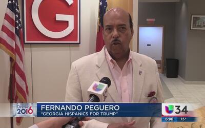 Republicanos buscan más votos latinos a favor de Trump en Georgia