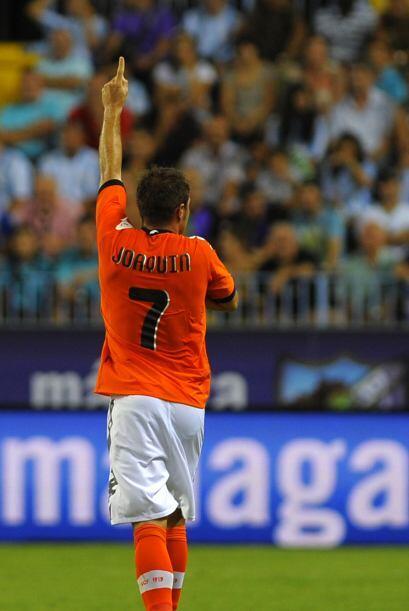 Joaquín pudo el 2-1 y el 3-1 en la cuenta para su equipo.