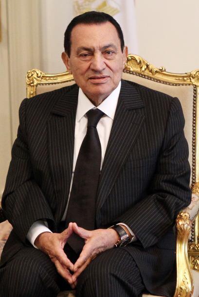 Por su parte, y según los documentos, Hosni Mubarak se muestra mu...