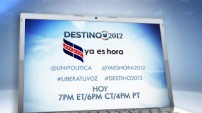 Utilice #destino2012 y #liberatuvoz para seguir la conversación.
