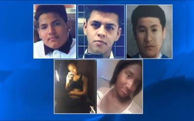 En el orden en que desaparecieron; Miguel García, Oscar Josué Acosta, Jo...