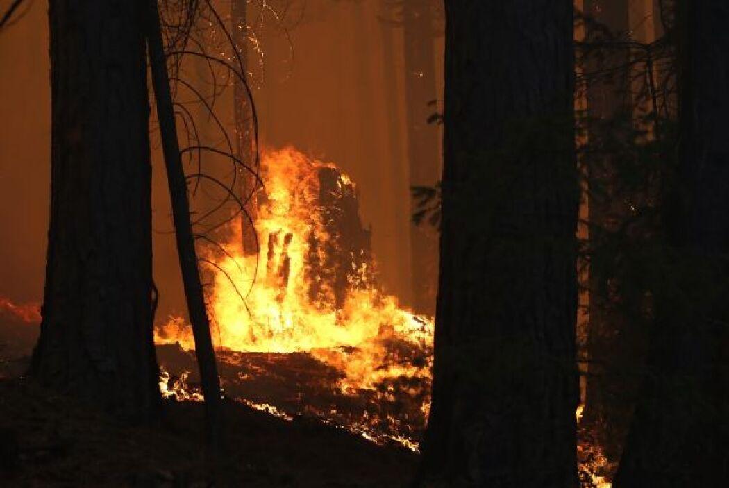 Un gran incendio fuera de control amenaza a más de dos mil 500 edificios...