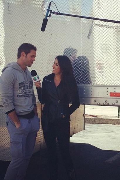 """My kind of #Friday! Set visit at #TermLife with #WilliamLevy""..."