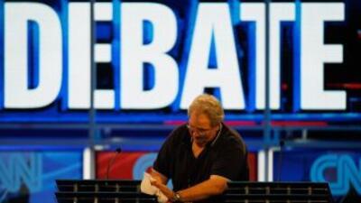Preparación para el debate presidencial republicano en 2012.