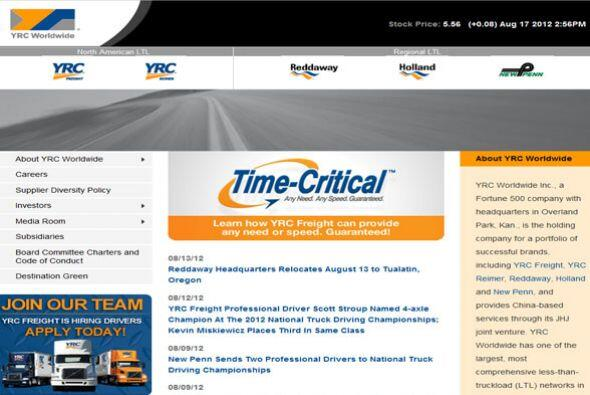 5. YRC WORLDWIDE  Sector de la industria: Transporte/logística.  Ejemplo...
