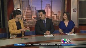 Los conductores de Univision 62 prueban los grillos