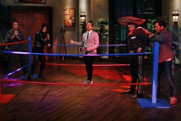 El ring estaba listo para la batalla y el reto  fue improvisar canciones