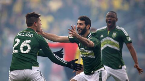 Diego Valeri celebra su gol en la MLS Cup 2015
