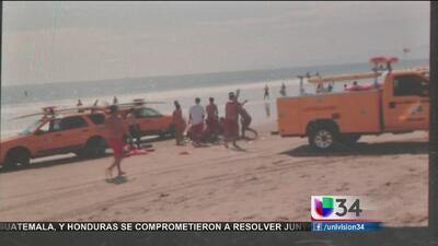 Rayo desató el pánico en Venice Beach