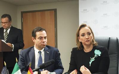 Claudia Ruíz, Ministra de Relaciones Exteriores de México...