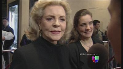 La actriz Lauren Bacall murió a los 89 años