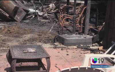 Ola de incendios en Stockton