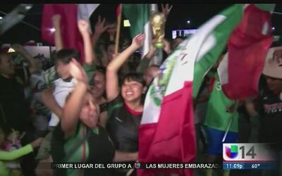 Al sur de California los festejos ante la victoria de México se salieron...