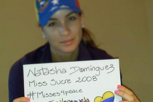 Natasha Domínguez ,Miss Sucre 2008, pidió rezar por Venzue...