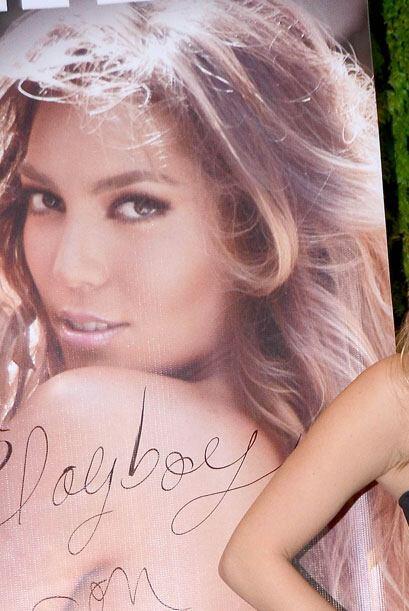 La hija de Alejandra Guzmán presentó la portada de Playboy donde aparece.
