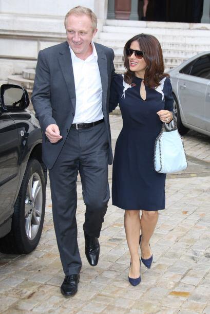 Salma y Henri iban saliendo de la presentación de la diseñadora Stella M...