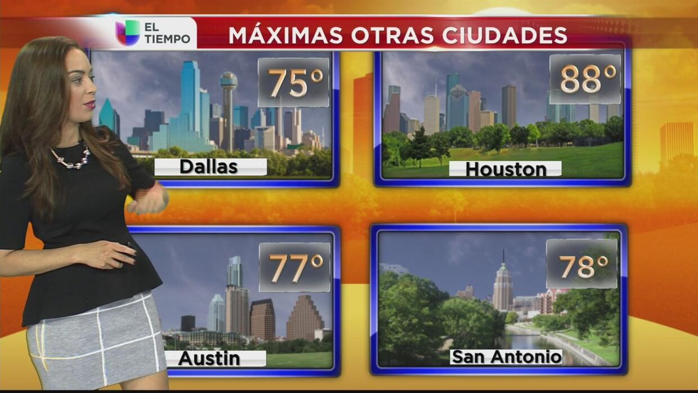 Dallas tendrá un lunes nublado