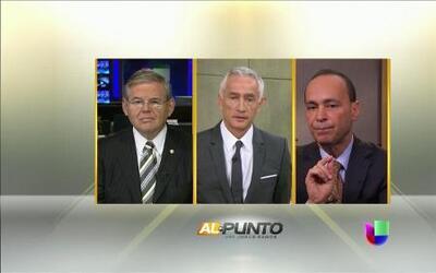 El Senador  Bob Menéndez y el congresista Luis Gutiérrez juntos en Al Punto