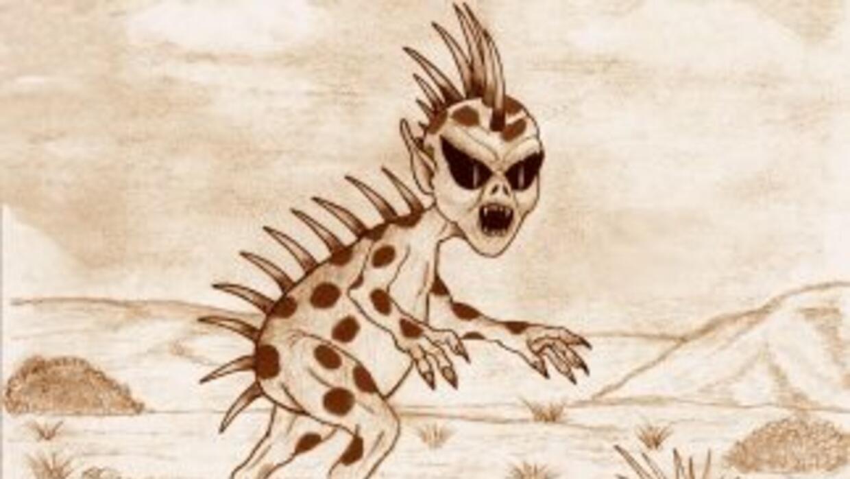 Esta es una de las imágenes que se han hecho del presunto Chupacabras.