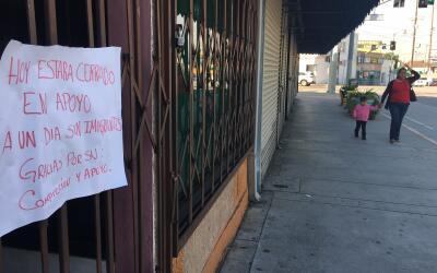Un comercio de Los Ángeles cerrado el jueves 16 de febrero por la...