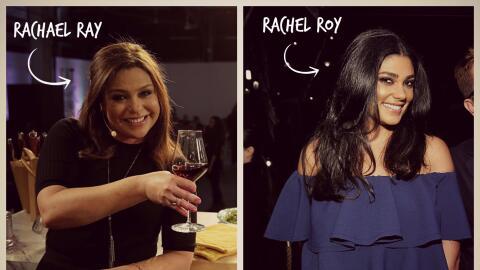 A la derecha la chef Rachael Ray, a la izquierda la diseñadora Ra...