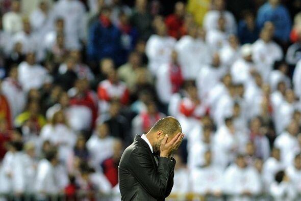 Mínimo triunfo del Barcelona por 1-0 y, sin duda, Guardiola no quedó con...